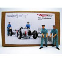 Figutec - Figurines Set de 2 mecaniciens Auto Union Pousseur - 1/18 - 18S306