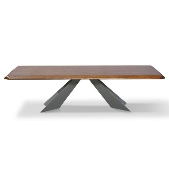 La Maison Du CanapÉ Table basse bois Noor - Noyer - Marron