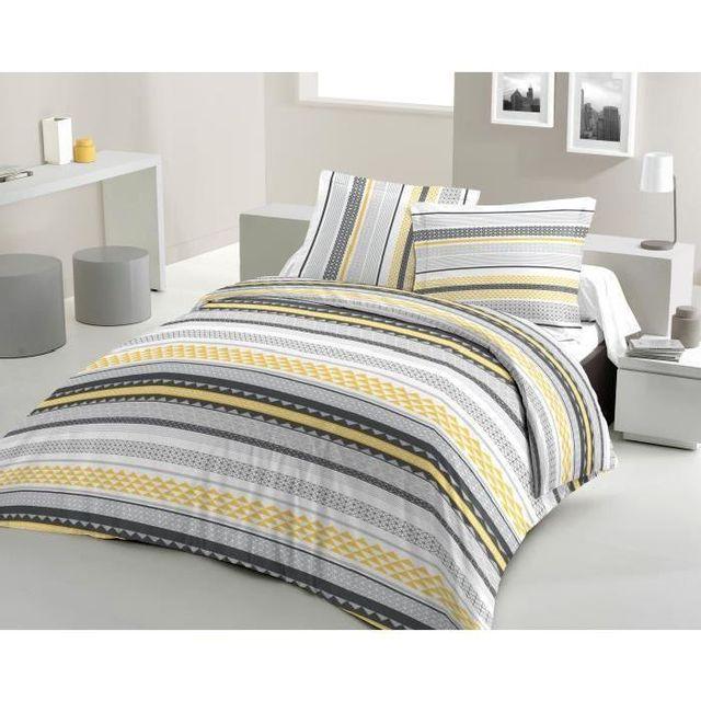 lovely home parure de couette 100 coton desperado une housse de couette 200x200 cm 2. Black Bedroom Furniture Sets. Home Design Ideas