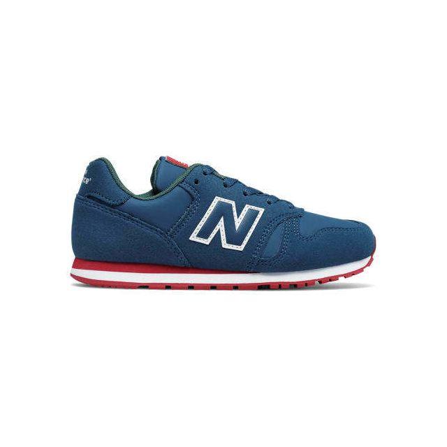 Chaussures New Balance KJ 373 bleu foncé rouge vert enfant