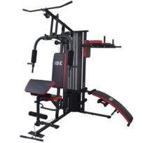 Ise - Station de musculation Appareil de musculation Fitness Multifonction avec poids Sy-4009