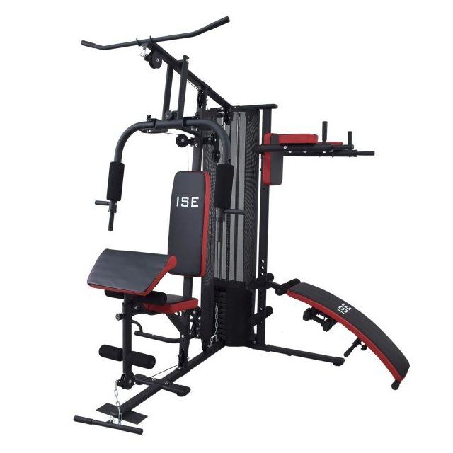 ise station de musculation appareil de musculation fitness multifonction avec poids sy 4009. Black Bedroom Furniture Sets. Home Design Ideas