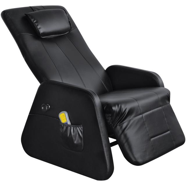 Vidaxl Noir Gravité zéro Fauteuil de Massage électrique en cuir artficiel
