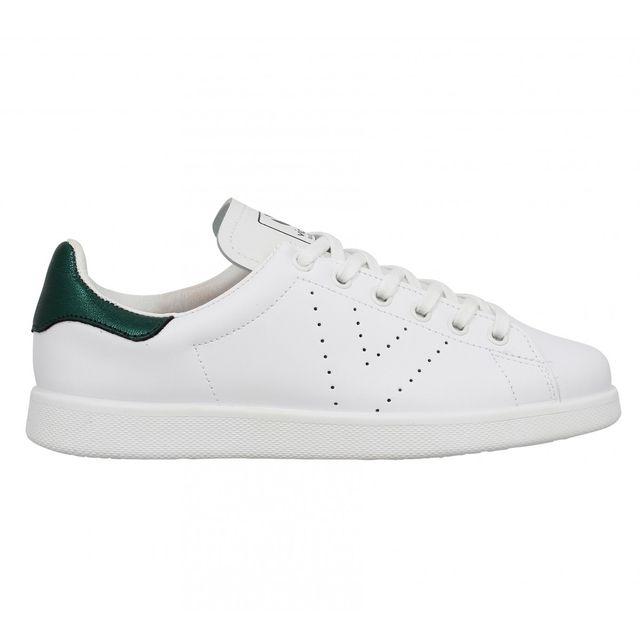 95a1e0710d3f1 Victoria - 12541 cuir Femme-39-Blanc + Vert - pas cher Achat   Vente ...