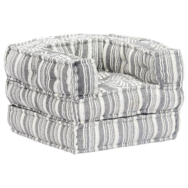 Vidaxl Chaise-canapé modulaire Tissu Rayure