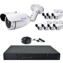 Securitegooddeal - Kit vidéosurveillance Ahd Pro 1080P 8 Tubes 2,0MP