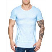 Freeside - Tee shirt long cintré 16108 Bleu