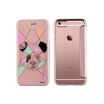 Evetane - Etui iPhone 6 iPhone 6S souple rose gold, Panda Outline