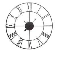Aucune - Vintage Horloge murale métal 40cm de diametre