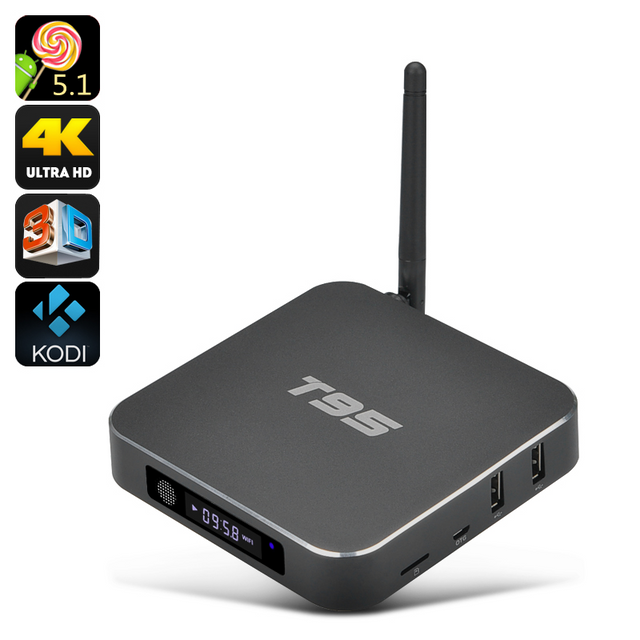 Auto-hightech Smart Box tv android Dual Band Wi-Fi, 8 Go Rom, Hdmi 2.0, support 3D, Kodi