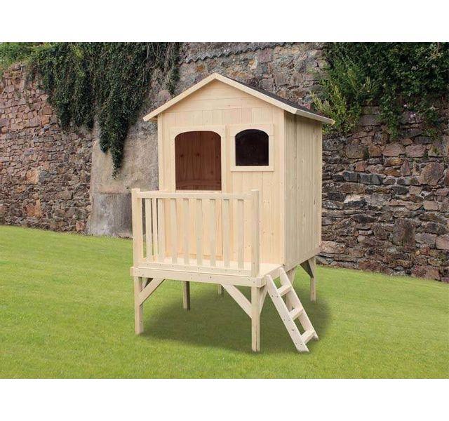 soulet maisonnette bois maelys pas cher achat vente. Black Bedroom Furniture Sets. Home Design Ideas