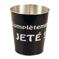 Pierre Henry - Corbeille à papier conique métal 10L Noir et blanc Nori