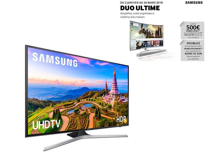"""TV LED 65"""" 163 cm UE65MU6105K - Noir"""