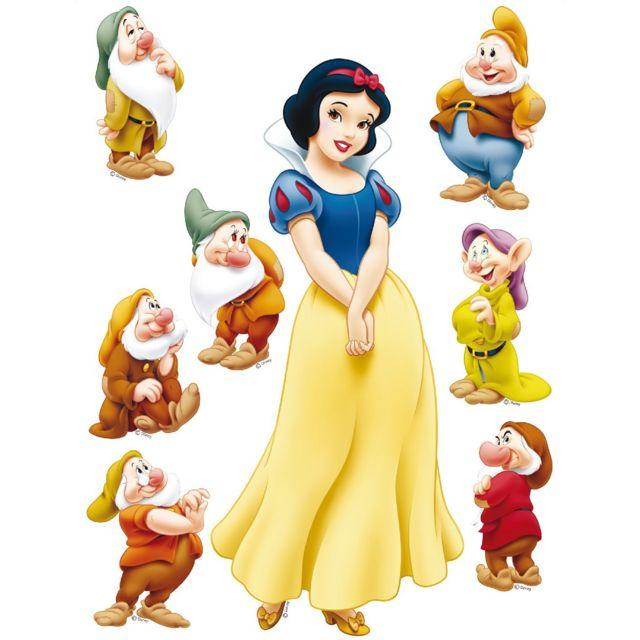 Bebe gavroche sticker g ant blanche neige et 7 nains princesse disney pas cher achat vente - La princesse blanche neige ...