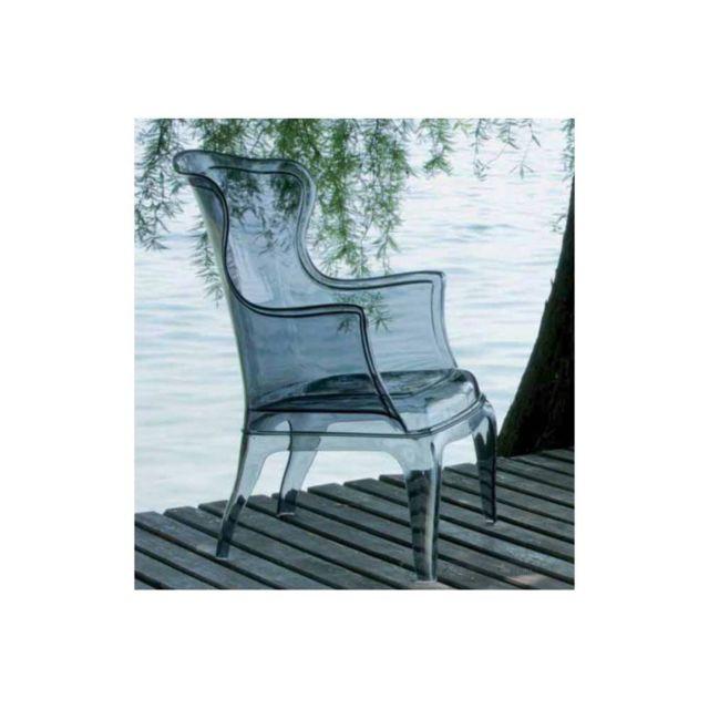 Inside 75 Daisy chaise design pour salons et jardins en plexi fumé