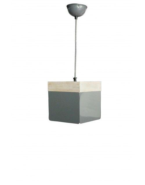 Decoshop Suspension bois et métal Isométrique