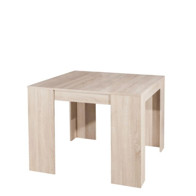 Table Console Extensible Chay Chêne Clair: Console Elasto Chêne Clair, Extensible En