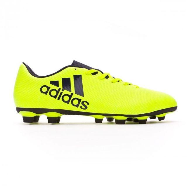 Adidas - Chaussure de football adidas X 17.4 FxG Solar yellow-Legend ink  Taille 48 b47d8ef651d1