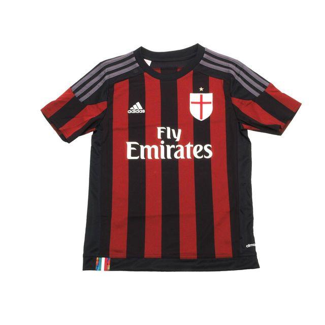 watch 80183 60a27 Adidas - Maillot de football Adidas Milan maillot jr Noir 48707. Taille du  vêtement ...