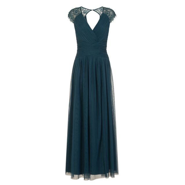robe longue fine bretelle bleu charon