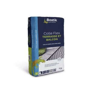 Bostik colle carrelage flex pour terrasse et balcon for Colle carrelage flexible
