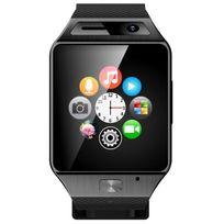 Yonis - Smartwatch Bluetooth appareil photo montre téléphone connectée Noir