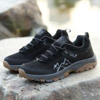 Chaussures Respirant de randonnée en plein air, antidérapantes, pour hommes Couleur: Noir Taille: 47