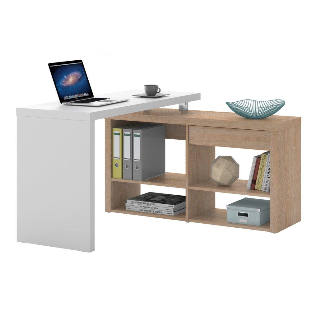 Alin a stars bureau d 39 angle avec 1 tiroir et 4 tag res pas cher achat vente bureaux - Bureau informatique alinea ...