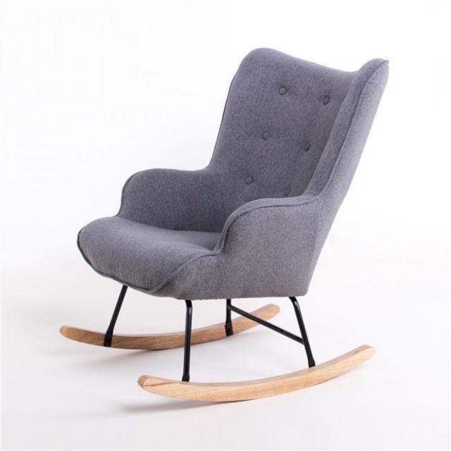 zons fauteuil bascule rocking chair h92x100x68cm. Black Bedroom Furniture Sets. Home Design Ideas