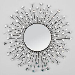 Emde miroir soleil strass 86 cm pas cher achat vente for Miroir emde deco