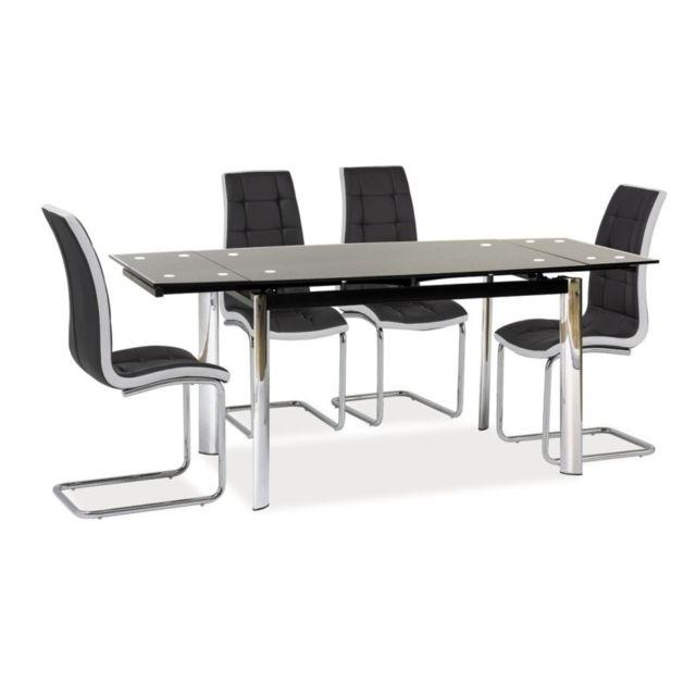 Table Extensible 10 Personnes Gd020 120 180 X 80 X 76 Noir