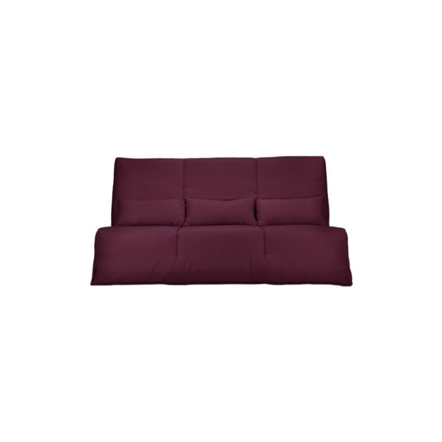camif banquette clic clac gaya matelas latex 15 cm 130 x 190 cm lie de vin n a pas cher. Black Bedroom Furniture Sets. Home Design Ideas