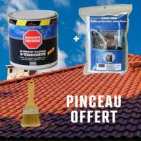 Arcane Industries - Réparation étanchéité tuile gouttière cheneau trou fissure souche cheminée ardoise Arcafilm Pack - Couleur : brun - Contenance : Kit jusqu'à 0.5 m²
