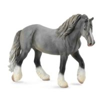 Figurines Collecta - Figurine Cheval : Jument Shire Horse gris