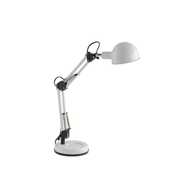 Millumine lampe de bureau industrielle blanche abscisse 38cm x 52cm x 62cm pas cher achat - Lampe bureau industrielle ...