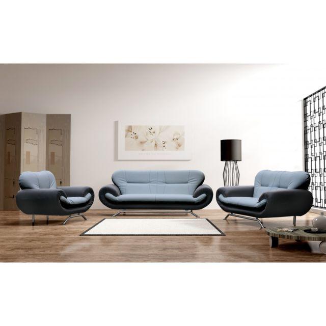 Rocambolesk Fauteuil Nena gris/noir sofa divan