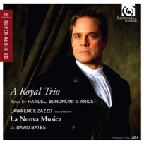 Harmonia Mundi - Lawrence Zazzo - A royal trio : Arias by Haendel, Ariosti & Bononcini Boitier cristal