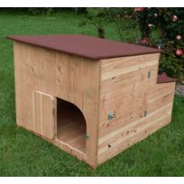 Agreable Les Animaux De La Fee   Poulailler En Bois Cote Fleurie 2 à 6 Poules  Fabrication