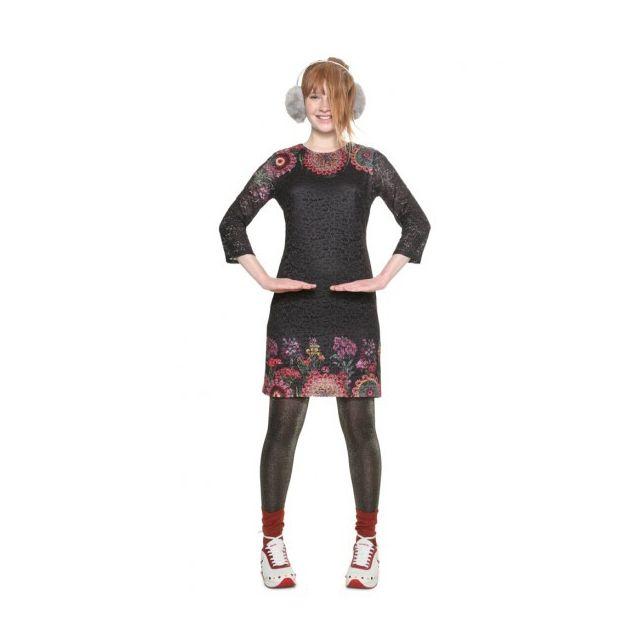 222bdf67007 Desigual - Desigual Robe Femme Darina Noir et Motifs 18WWVW09 - Taille - 46