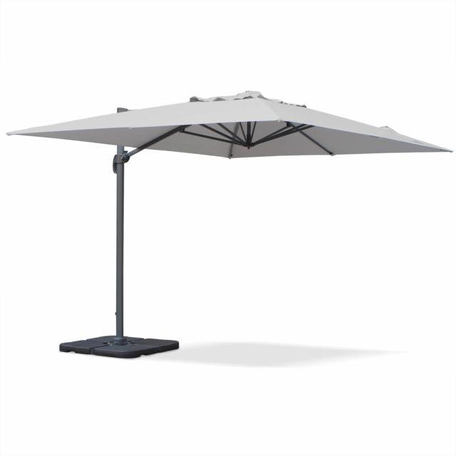 alice 39 s garden parasol d port rectangulaire 3 x 4 m haut de gamme st jean de luz gris. Black Bedroom Furniture Sets. Home Design Ideas