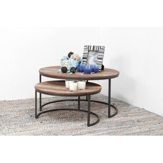 Dbodhi Table Basse Ronde Gigogne D Bodhi Pas Cher Achat