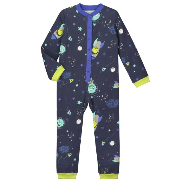 petit beguin pyjama gar on manches longues cosmoboy couleur bleu longueur des manches. Black Bedroom Furniture Sets. Home Design Ideas