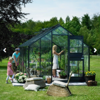 Juliana - Serre Compact Plus anthracite en verre 3 mm - Dimensions : 9.9 m²