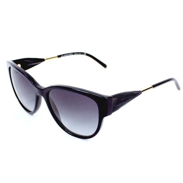 e9cfba44c96d Burberry - Lunettes de soleil Be-4190 3001 8G Femme Noir - pas cher Achat    Vente Lunettes Tendance - RueDuCommerce