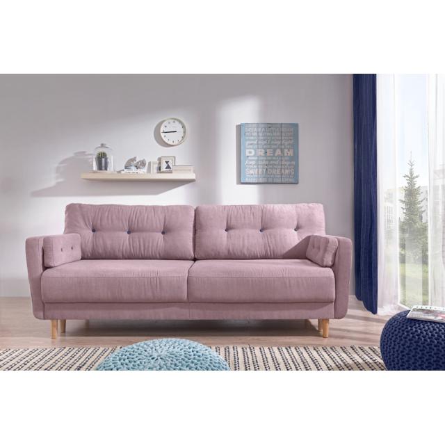 bobochic copenhagen canap convertible 3 places rose achat vente canap s pas chers. Black Bedroom Furniture Sets. Home Design Ideas
