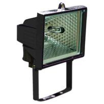 Dhome - Projecteur halogène noir 120 W
