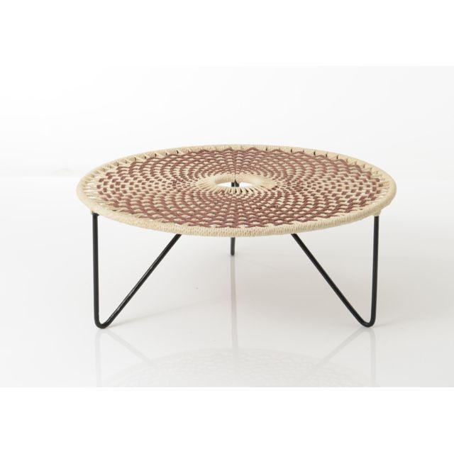 AMADEUS Table basse marron Baya 75 cm