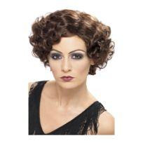 - Perruque brune jeune fille années 20