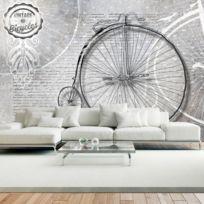 Bimago - Makossa-a1-XXLNEW010581 - Papier peint - Vintage bicycles - black and white 350x245