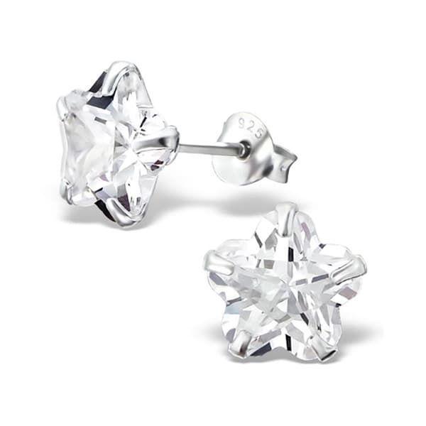 Sochicbijoux so chic bijoux © boucles doreilles etoile 8 mm oxyde de zirconium argent 925